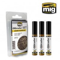 Ammo by Mig Oilbrusher Ground Colors Set
