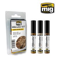 Ammo by Mig Oilbrusher Earth Colors Set