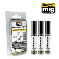 Ammo by Mig Oilbrusher Bare Metal Colors Set