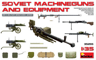 Miniart Russian Machineguns and Equipment  1:35