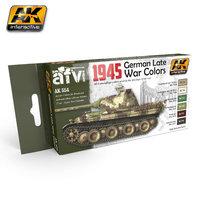 AK AFV Paint Set 1945 German Late War Colors