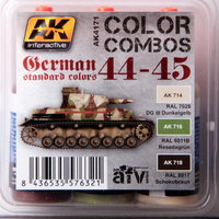 AK AFV Paint Set German 1944-45 Standard Colors WWII