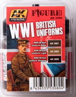 AK Figure paint set WW1 Britisch Uniforms