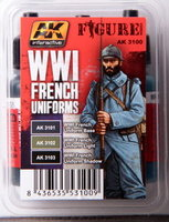 AK Figure paint set WW1 French Uniforms