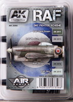 AK Aircraft Paint Set RAF Day Fighter Scheme