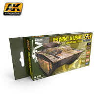 AK AFV Paint Set US Army & USMC Camouflage Colors