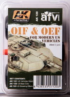 AK IOIF&OEF for modern US vehicles Weathering Set