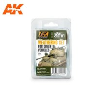 AK Weathering set for green vehicles
