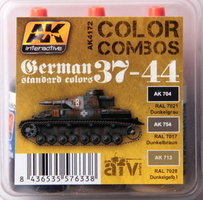 AK AFV Paint Set German 1937-44 Standard Colors WWII