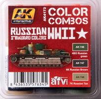 AK AFV Paint Set Russian Standard Colors WWII