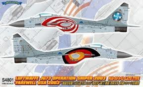Great Wall Hobby Mig-29 Operation Sniper 2003 1:48