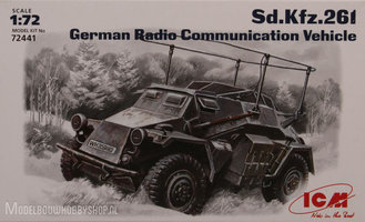 ICM	Sd.Kfz.261 German Radio Communication Vehicle 		1:72