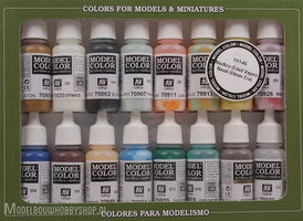 VALLEJOModel Color, 16 Color Set Naval (steam era)