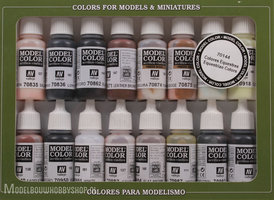 VALLEJO	Model Color, 16 Color Set Equestrian Colors