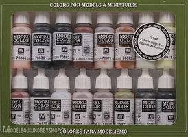 VALLEJOModel Color, 16 Color Set Equestrian Colors