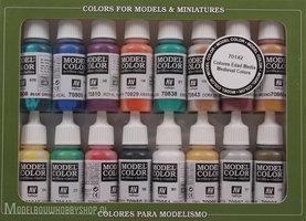 VALLEJOModel Color, 16 Color Set Medieval Colors