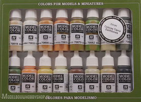 VALLEJO	Model Color, 16 Color Set Earthtones