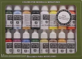 VALLEJOModel Color, 16 Color Set Basic Colors USA