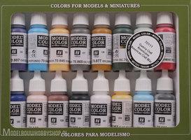 VALLEJOModel Color, 16 Color Set American Civil War