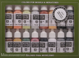 VALLEJOModel Color, 16 Color SetWWII German