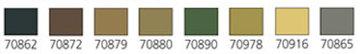 VALLEJOModel Color, 8 Color Set Panzer Colors