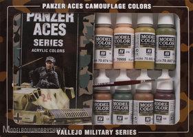VALLEJO Panzer Aces Camouflage 16 Color Set