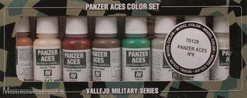 Panzer Aces 8 Color Set:  Skintones, white, splinter camouflage