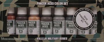 Panzer Aces 8 Color Set: Rust,tracks, rubber, pilot lights