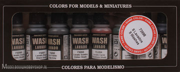Vallejo Washes-Set 8 Colors a 17ml