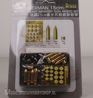 AFV German 15cm Heavy Infantry Gun Ammo Set Brass1:35