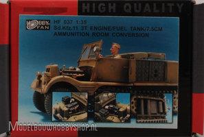 AFV Sd.Kfz.11 3T engine/fuel tank/75mm ammunition room conversion