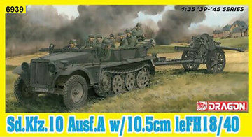 Dragon Sd.Kfz.10 Ausf.A & 10.5cm LeFH18/40 1:35