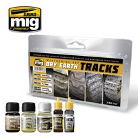 Ammo by Mig Weathering set Dry Earth Tracks