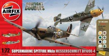 Airfix Supermarine spitfire Mk.1a&Messerschmitt Bf109E-4 1:72