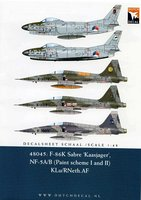 Dutch Decal F-86K Sabre Kaasjager& NF-5A/B Decals 1:48