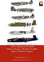 Dutch Decal Dutchies In The RAF/FAA Halifax,Mosquito,Mitchell,Swordfish,Dakota,Typhoon,Spitfire,Tempest  1:72