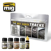 Ammo by Mig Weathering set Wet Earth Tracks