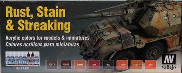 Vallejo Rust,Stain&Streaking  8x17ml
