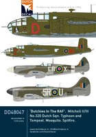 Dutch Decal Dutchies In The RAF  1:48