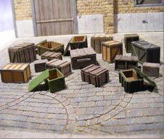 Reality in Scale Crates & Boxes Super Set 1:35