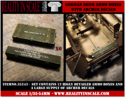 Reality in Scale German 88mm Ammo Boxes 1:35
