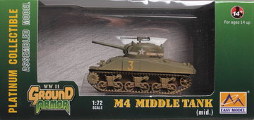 Easy Model  Sherman M4 Middle Tank 1  1:72