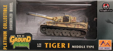Easy Model  Tiger 1 MiddleType 1:72