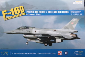 Kinetic  Polish/Hellenic Air Force F-16D block 52+  1:72