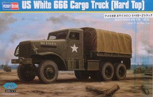 HobbyBoss US White 666 Cargo Hard Top 1:35