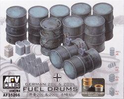 AFV German 20l&200l Fuel Drums 1:35