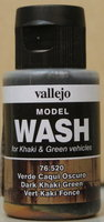 Vallejo Wash Dark Khaki Green 35ml