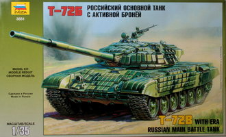Zvezda T-72B Russian Main Battle Tank 1:35