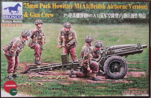 Bronco 75mm Pack Howitzer M1A1(British Airborne Version) with Crew 1:35