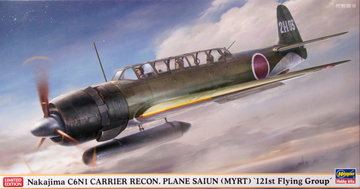 Hasegawa Nakajima C6N1 Carrier Recon Plane Saiun  1:48
